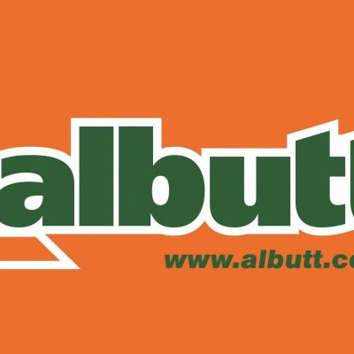 Logo with outline and background orange